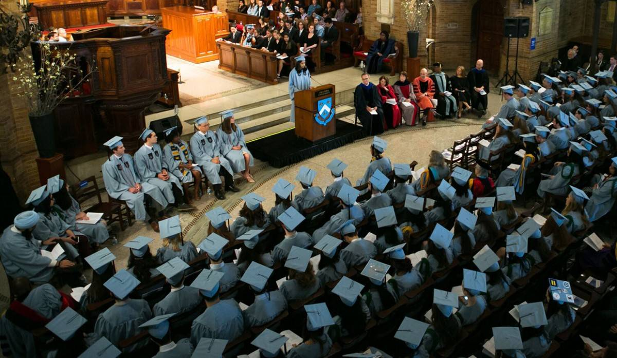 The Baccalaureate Service ceremony in St. Paul's Chapel at Columbia University