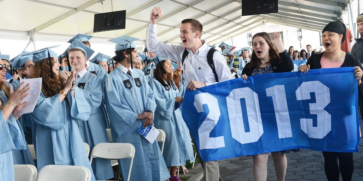 New Columbia University alumni celebrating
